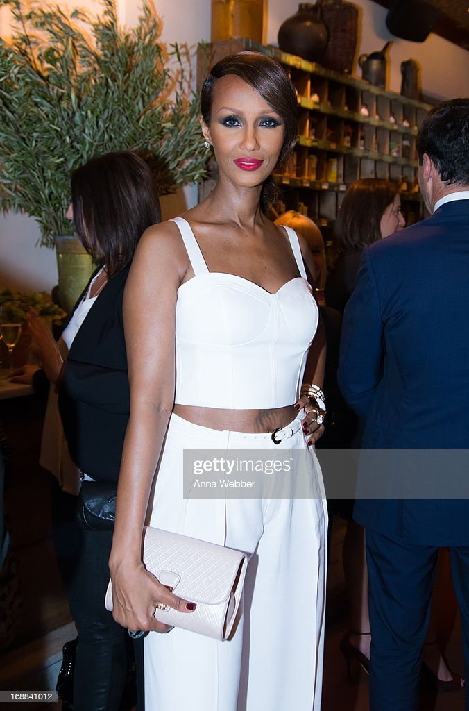 Iman attends ELLE & Tod's Celebrate Kerry Washington at Il Buco Alimentari & Vineria on May 15, 2013 in New York City.