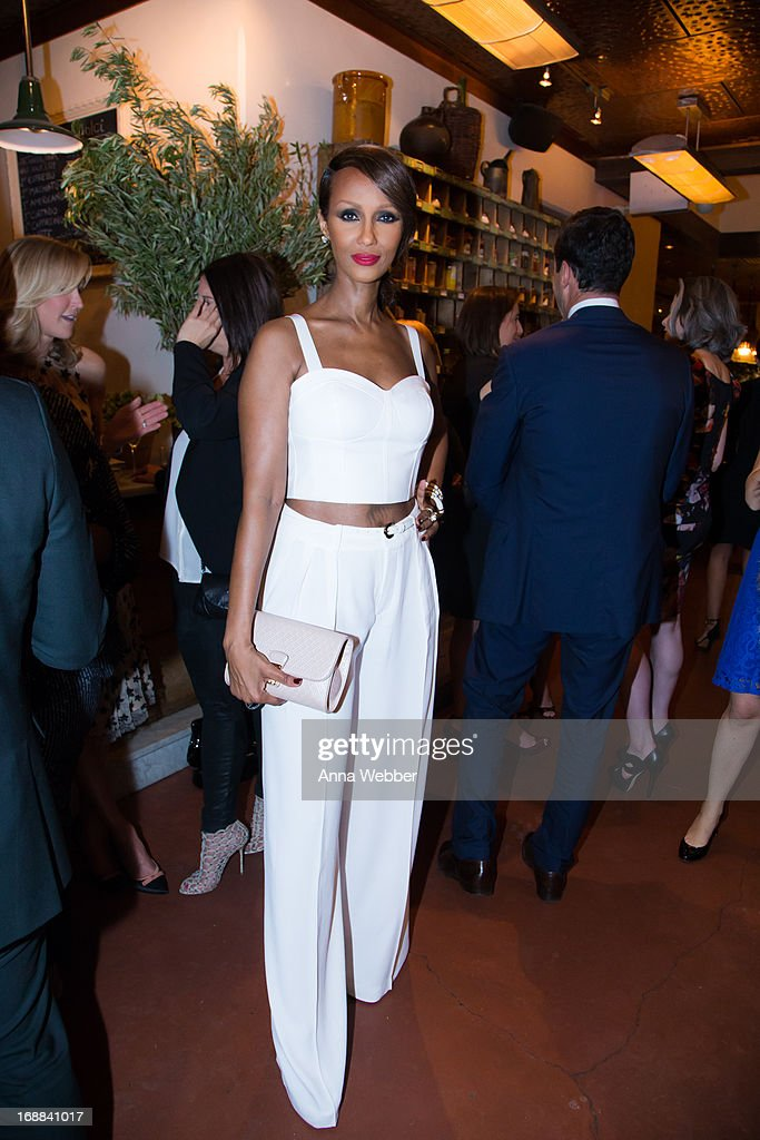 Iman attends ELLE & Tod's Celebrate <a gi-track='captionPersonalityLinkClicked' href=/galleries/search?phrase=Kerry+Washington&family=editorial&specificpeople=201534 ng-click='$event.stopPropagation()'>Kerry Washington</a> at Il Buco Alimentari & Vineria on May 15, 2013 in New York City.