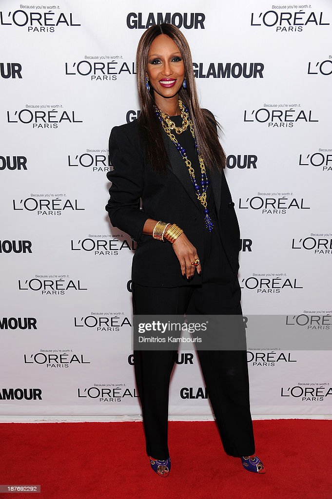 <a gi-track='captionPersonalityLinkClicked' href=/galleries/search?phrase=Iman+-+Fashion+Model&family=editorial&specificpeople=132463 ng-click='$event.stopPropagation()'>Iman</a> attends Glamour's 23rd annual Women of the Year awards on November 11, 2013 in New York City.