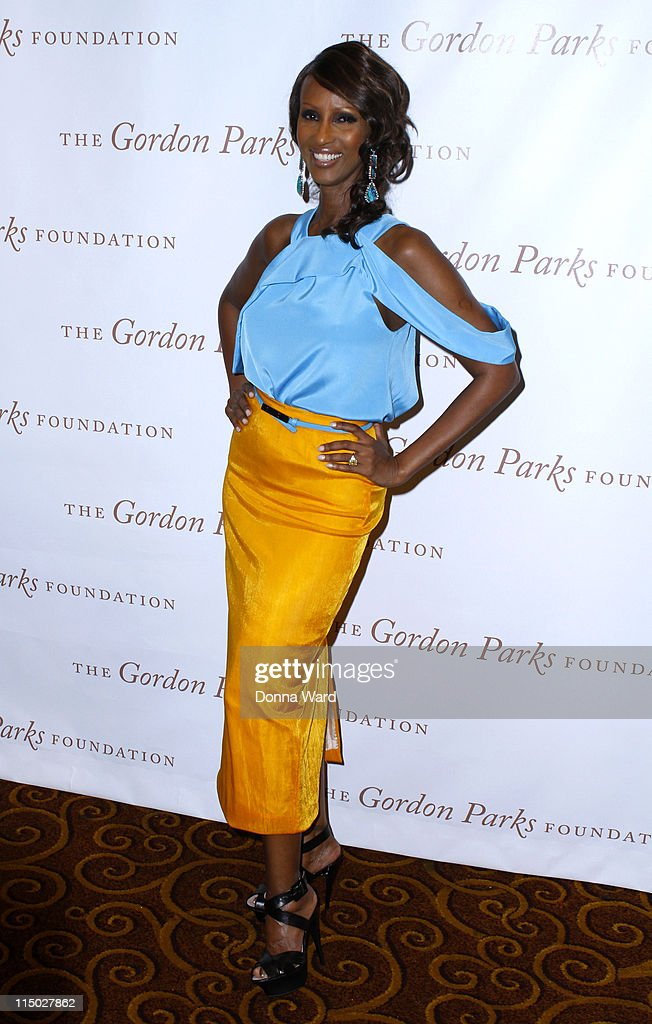 Iman attends the Gordon Parks Foundation awards dinner and auction at Gotham Hall on June 1 2011 in New York City