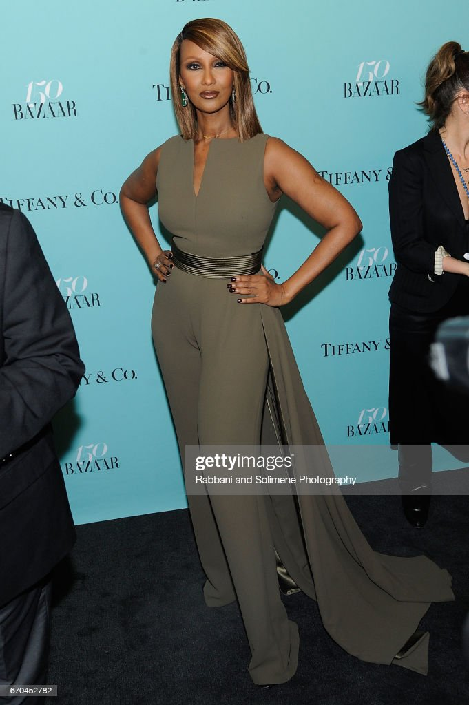 Iman attends the Harper's Bazaar: 150th Anniversary Party at The Rainbow Room on April 19, 2017 in New York City.