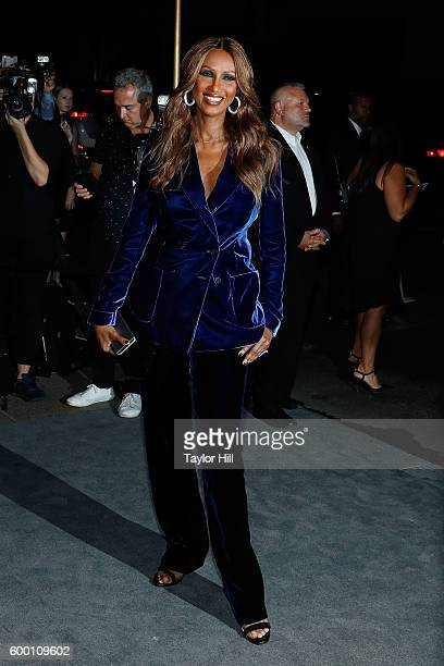 Iman attends the Tom Ford Fall 2016 fashion show during New York Fashion Week September 2016 at The Four Seasons on September 7 2016 in New York City