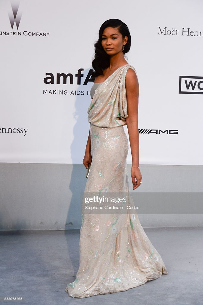 Iman Chanel at the amfAR's 21st Cinema Against AIDS Gala at Hotel du Cap-Eden-Roc during the 67th Cannes Film Festival