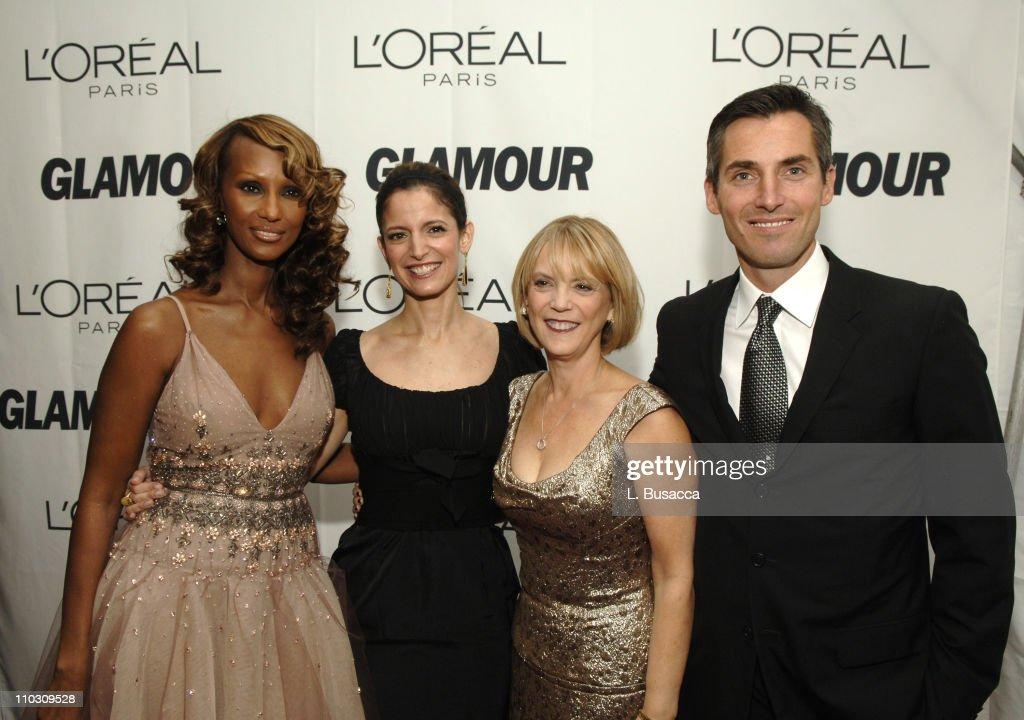 Iman Cindi Leive Editor In Chief Glamour Carol Hamilton president of L'Oreal Paris and Bill Wackermann Vice President Publisher Glamour