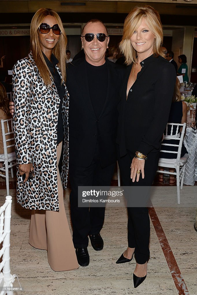 Iman, designer Michael Kors, and Patti Hansen attend The Couture Council of The Museum at the Fashion Institute of Technology hosted luncheon honoring Michael Kors with the 2013 Couture Council Award on September 4, 2013 in New York City.