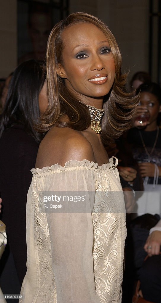 I-Girl's Spring 2002 Party, Where Iman was Promoting Her Line of I-IMAN Makeup