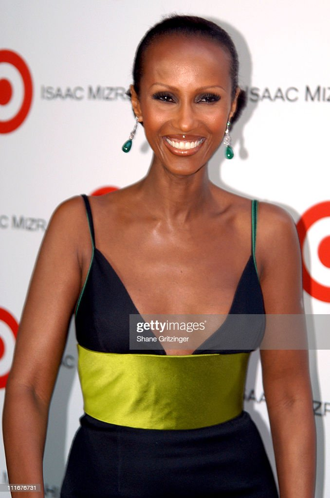 Iman during Isaac Mizrahi High / Low Fall 2004 Fashion Show at Cipriani in New York City, New York, United States.
