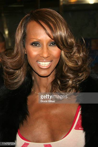 Iman during 'The Color Purple' Broadway Opening Night Arrivals at The Broadway Theatre in New York City New York United States