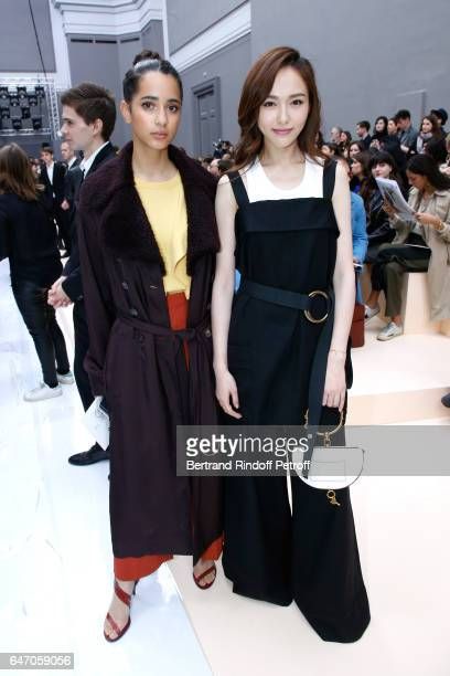 Iman Perez and Tony Yan attend the Chloe show as part of the Paris Fashion Week Womenswear Fall/Winter 2017/2018 on March 2 2017 in Paris France