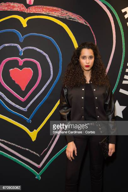 Iman Perez attends Fashion For Relief 'Child At Heart' cocktail party on April 20 2017 in Paris France The 'Child At Heart' collection created by...