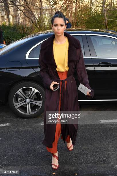 Iman Perez is seen arriving at Chloe fashion show during the Paris Fashion Week Womenswear Fall/Winter 2017/2018 on March 2 2017 in Paris France