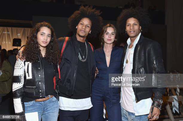 Iman Perez Laurent Bourgeois Eleonore Toulin and Nicolas Bourgeois attend the HM Studio show as part of the Paris Fashion Week on March 1 2017 in...