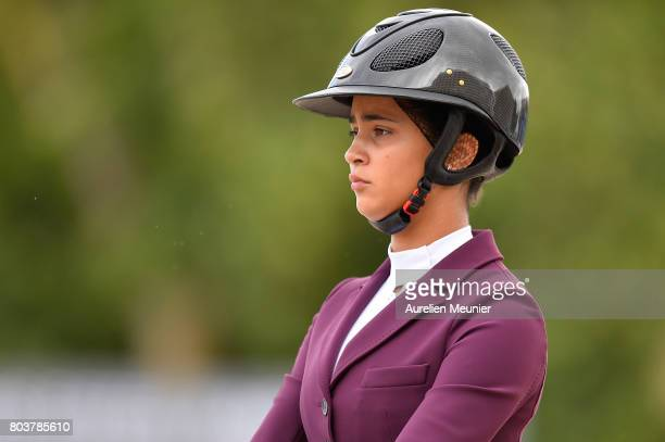 Iman Perez of France and Pleasure Ride compete on day 1 in the 4th Longines Paris Eiffel Jumping competiton on June 30 2017 in Paris France