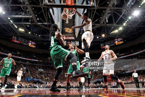Iman Shumpert of the Cleveland Cavaliers dunks the ball during the game against the Boston Celtics in Game Four of the Eastern Conference Finals of...