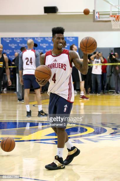 Iman Shumpert of the Cleveland Cavaliers during practice and media availability as part of the 2017 NBA Finals on June 11 2017 at Warriors Practice...