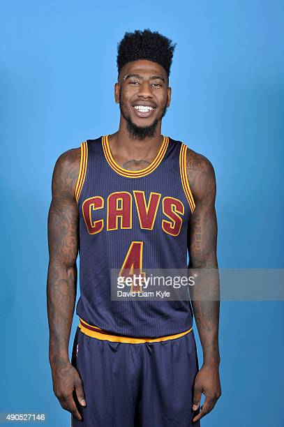 Iman Shumpert of the Cleveland Cavaliers poses for a portrait during media day at The Cleveland Clinic Courts on September 28 2015 in Independence...