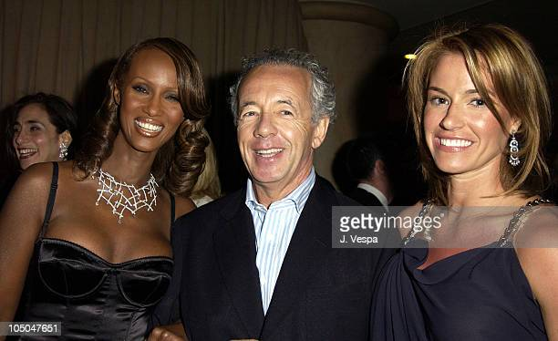 Iman wearing a DeBeers Lattice diamond necklace Gilles Bensimon Publication Director Elle and Kelly Bensimon