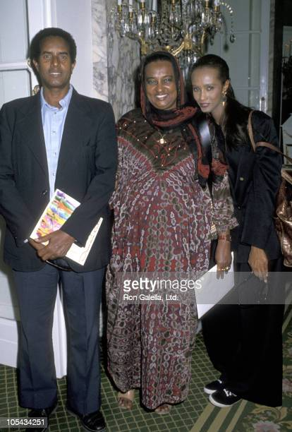 Iman with her father Mohammed Abdul Majid and her mother Marion