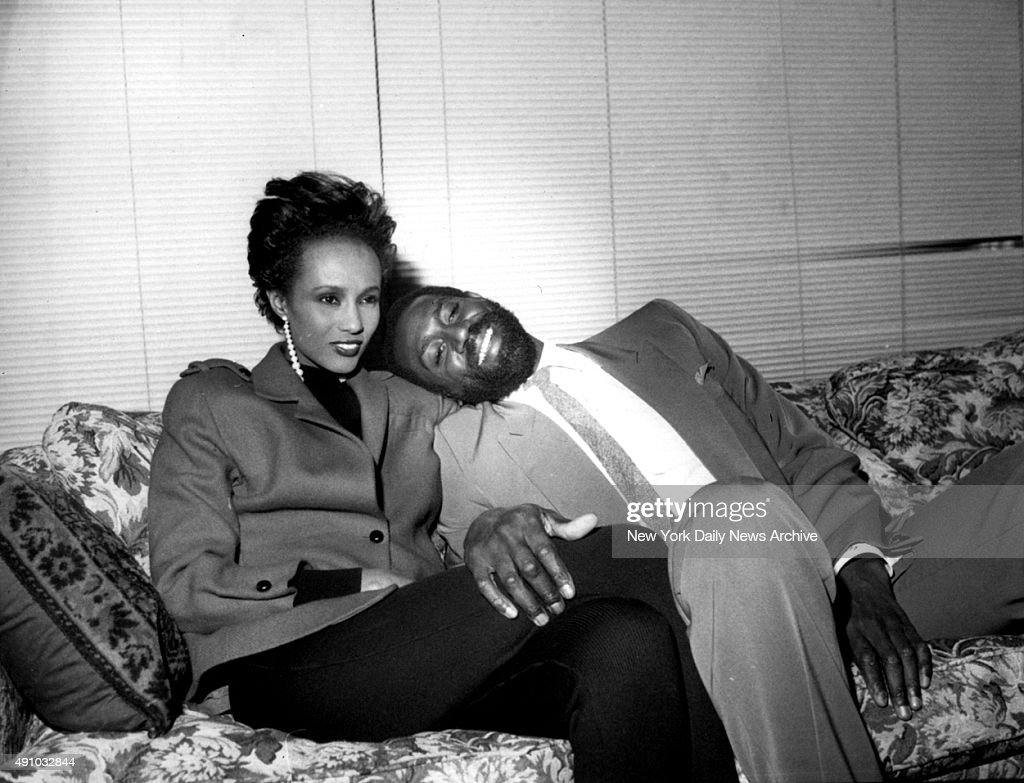 Iman with Spencer Haywood