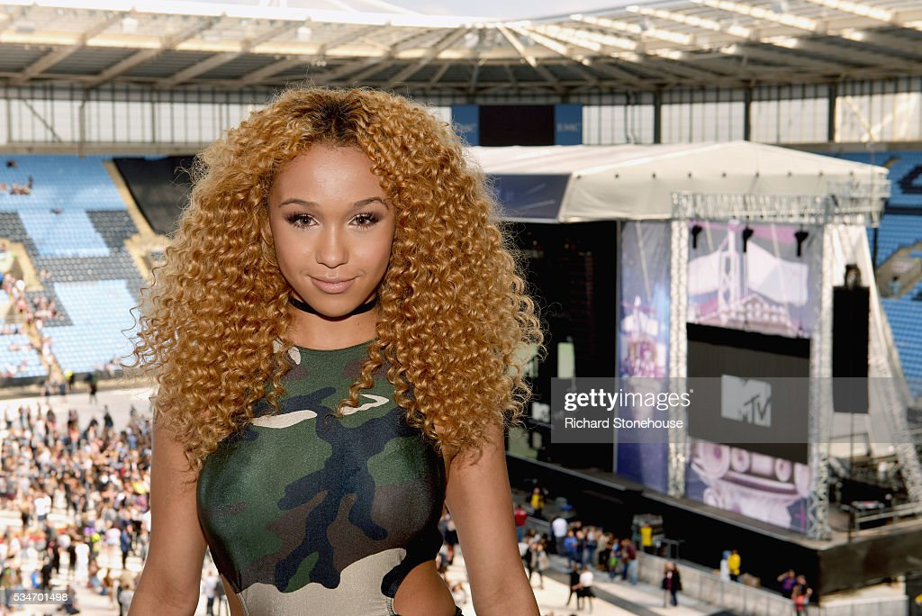 Imani poses in the press room during 'MTV Crashes Coventry' at Ricoh Arena on May 27, 2016 in Coventry, England.