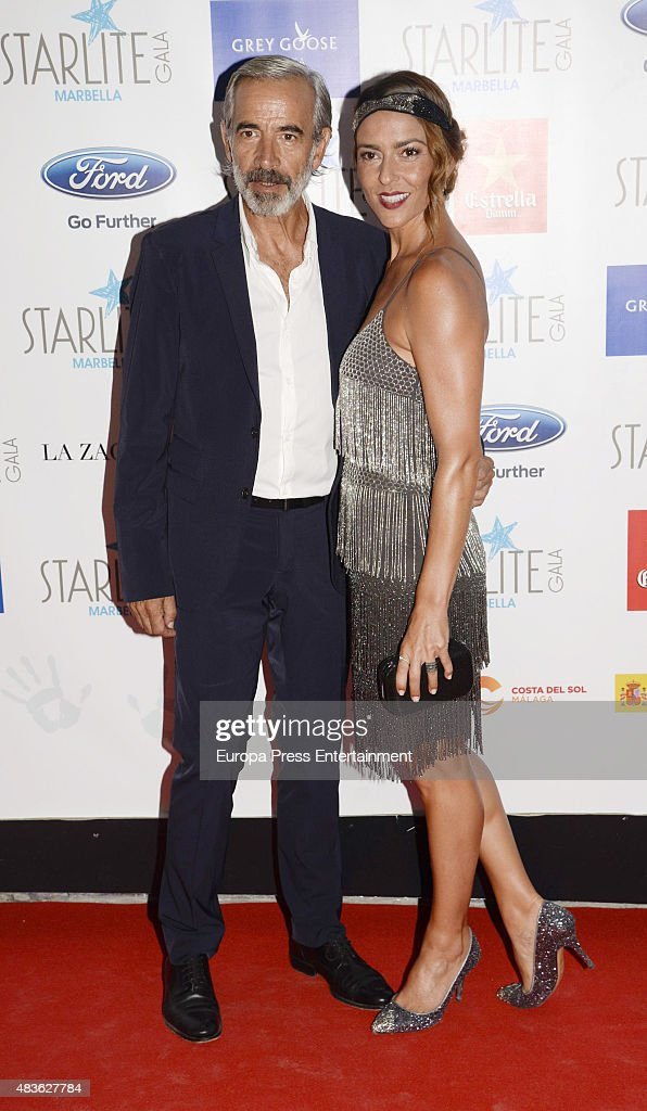 Imanol Arias and Irene Maritxell attend Starlite Gala on August 9, 2015 in Marbella, Spain.