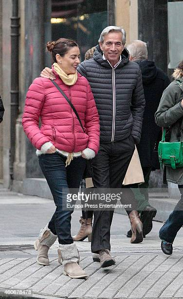 Imanol Arias and Irene Meritxel are seen on November 29 2014 in Gijon Spain