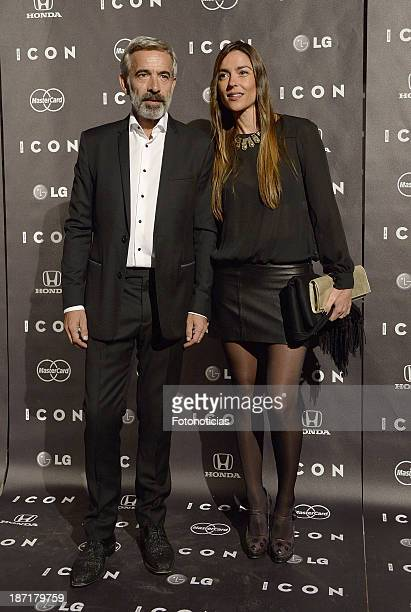Imanol Arias and Irene Meritxel attend 'Icon' magazine launch party at the Circulo de Bellas Artes on November 6 2013 in Madrid Spain