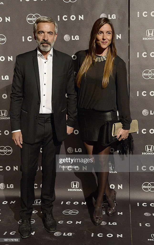 <a gi-track='captionPersonalityLinkClicked' href=/galleries/search?phrase=Imanol+Arias&family=editorial&specificpeople=805299 ng-click='$event.stopPropagation()'>Imanol Arias</a> and Irene Meritxel attend 'Icon' magazine launch party at the Circulo de Bellas Artes on November 6, 2013 in Madrid, Spain.