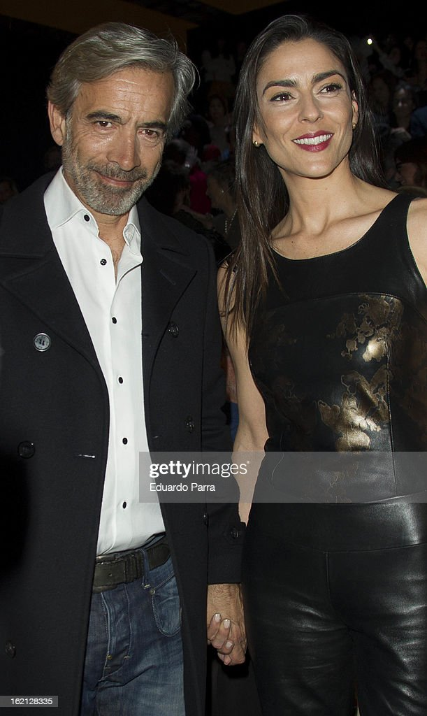 <a gi-track='captionPersonalityLinkClicked' href=/galleries/search?phrase=Imanol+Arias&family=editorial&specificpeople=805299 ng-click='$event.stopPropagation()'>Imanol Arias</a> and Irene Meritxell attend a fashion show during the Mercedes Benz Fashion Week Madrid Fall/Winter 2013/14 at Ifema on February 19, 2013 in Madrid, Spain.