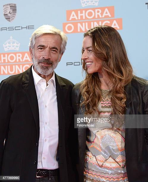 Imanol Arias and Irene Meritxell attends the 'Ahora o Nunca' premiere at Capitol Cinema on June 16 2015 in Madrid Spain