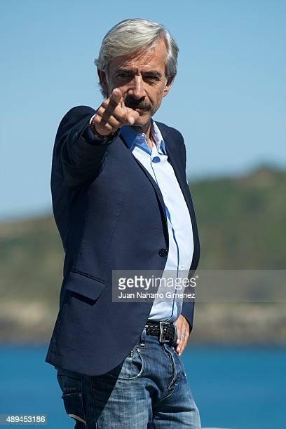 Imanol Arias attends 'Eva No Duerme' photocall during 63rd San Sebastian Film Festival on September 21 2015 in San Sebastian Spain