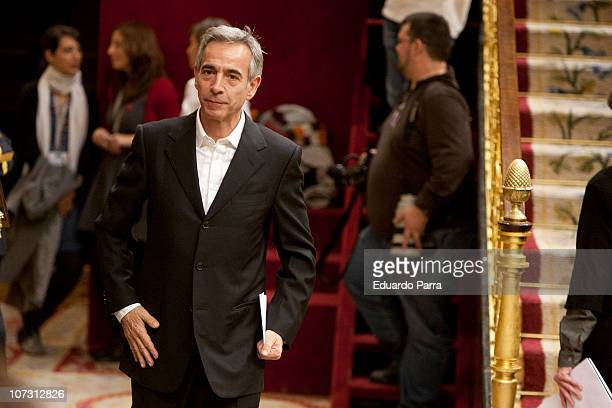Imanol Arias attends the public reading of the Spanish Constitution at Palace of the Parliament on December 3 2010 in Madrid Spain