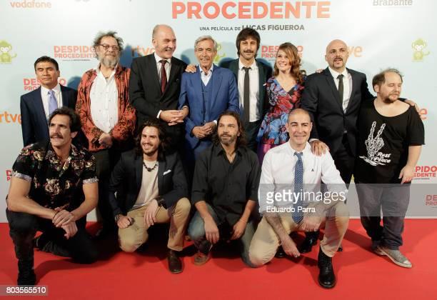 Imanol Arias Hugo Silva Lucas Figueroa and Dario Grandinetti attend the 'Despido procedente' photocall at Callao cinema on June 29 2017 in Madrid...