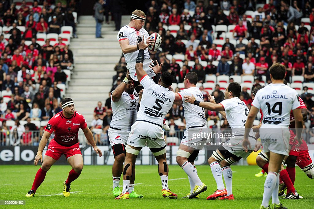 Imanol Harinordoquy during the French Top 14 rugby union match between RC Toulon and Stade Toulousain ( Toulouse ) at Allianz Riviera on April 30, 2016 in Nice, France.