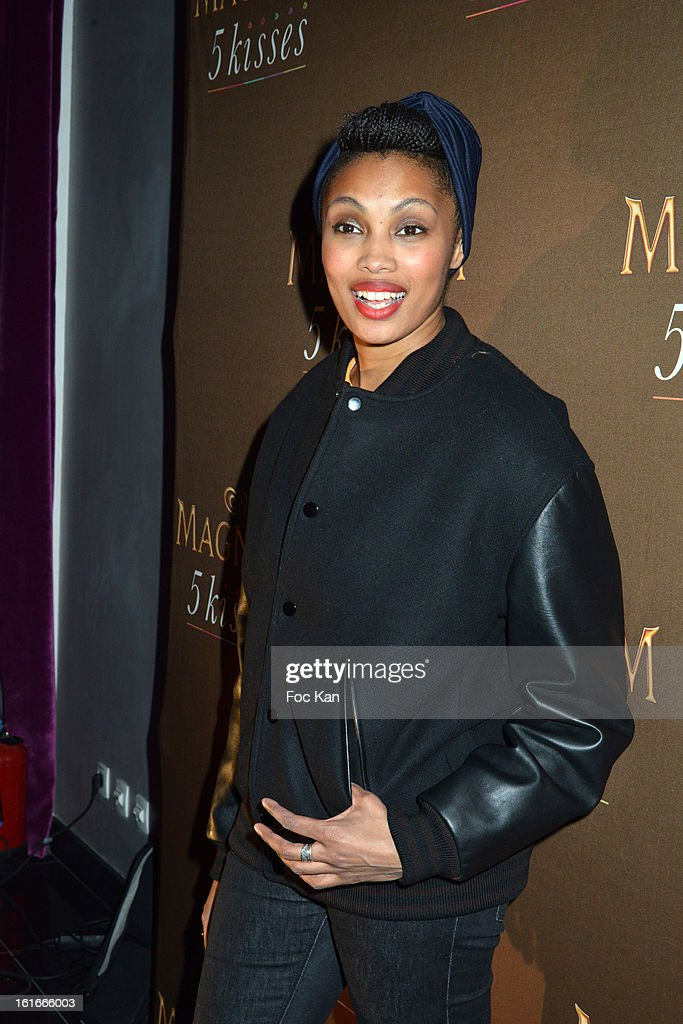 Imany attends 'Magnum Ice Creams' Party for Valentine's day at Pavillon Cambon Capucines on February 13, 2013 in Paris, France.
