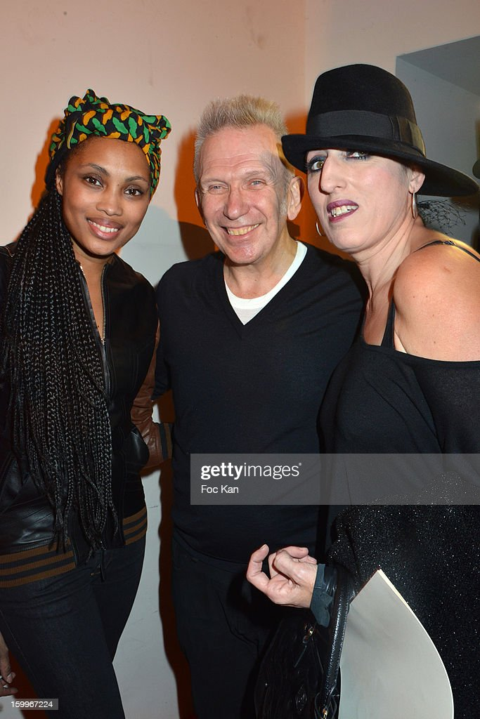 Imany, Jean Paul GaultierÊand Rosy de Palma attend the Jean-Paul Gaultier Spring/Summer 2013 Haute-Couture show as part of Paris Fashion Week at Studio Jean Paul Gaultier on January 23, 2013 in Paris, France.