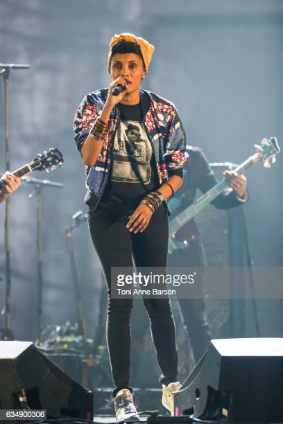 Imany performs during the '32nd Victoires de la Musique 2017' at Le Zenith on February 10 2017 in Paris France