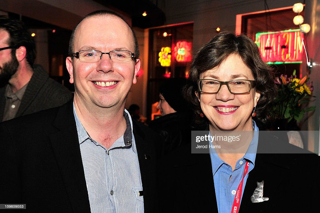 IMDb founder Col Needham and INDIEWIRE's <a gi-track='captionPersonalityLinkClicked' href=/galleries/search?phrase=Anne+Thompson&family=editorial&specificpeople=1278298 ng-click='$event.stopPropagation()'>Anne Thompson</a> attend the IMDb Sundance dinner party at The Mustang on January 21, 2013 in Park City, Utah.