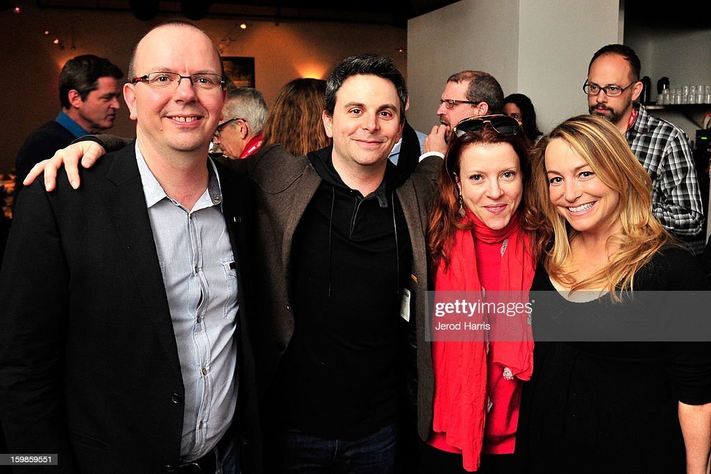 IMDb founder Col Needham, producer Jason Shuman, producer Lauren Selig and IMDb head of original content Emily Glassman attend the IMDb Sundance dinner party at The Mustang on January 21, 2013 in Park City, Utah.