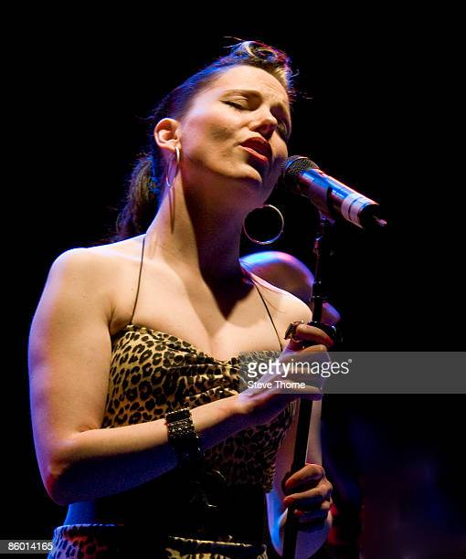 Imelda May performing live at the Centaur Cheltenham Racecourse during the Cheltenham Jazz Festival Cheltenham UK on April 30 2008