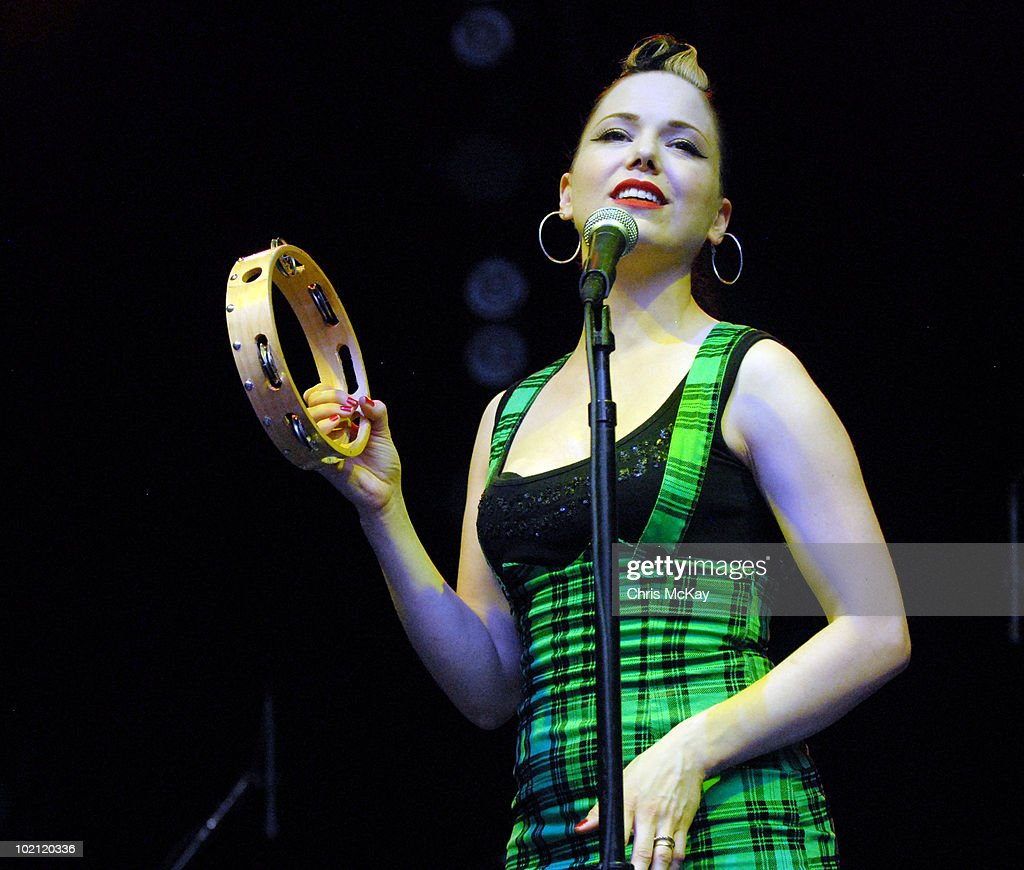 Imelda May performs at Chastain Park Amphitheater on June 11, 2010 in Atlanta, Georgia.