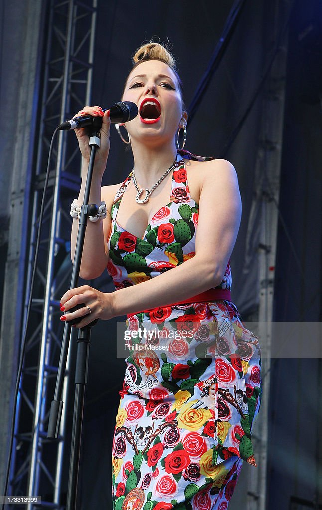 Imelda May performs at Iveagh Gardens on July 11, 2013 in Dublin, Ireland.