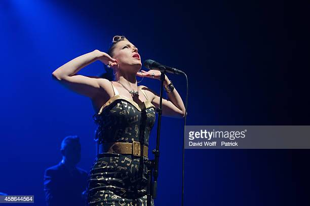 Imelda May performs at L'Olympia on November 8 2014 in Paris France