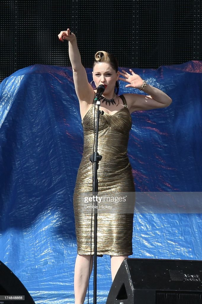 Imelda May performs at Nowlan Park on July 28 2013 in Kilkenny Ireland