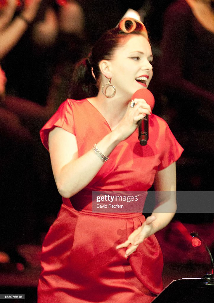 <a gi-track='captionPersonalityLinkClicked' href=/galleries/search?phrase=Imelda+May&family=editorial&specificpeople=5401061 ng-click='$event.stopPropagation()'>Imelda May</a> performs on stage at Jazz Voice, Barbican for the London Jazz Festival on November 9, 2012 in London, United Kingdom.