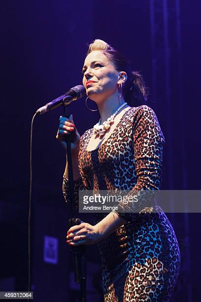 Imelda May performs on stage at O2 Academy on November 20 2014 in Leeds United Kingdom