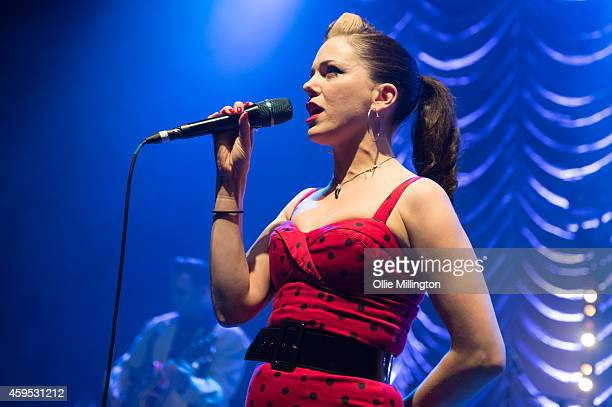 Imelda May performs on stage at Shepherds Bush Empire on November 24 2014 in London United Kingdom