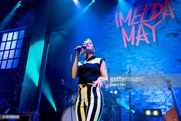 Imelda May performs on stage at The Roundhouse on March 17 2014 in London United Kingdom