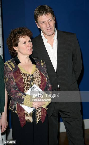 Imelda Staunton and Sean Bean during First Light Movies Awards 2007 Photocall at Odeon West End in London Great Britain