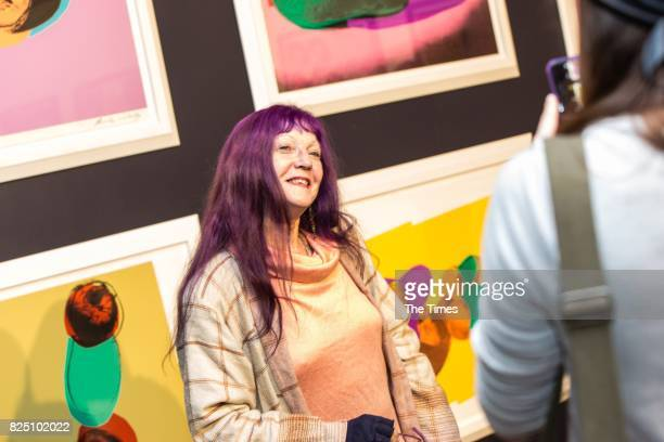 Imelda ThomeBecker during the opening of the Andy Warhol exhibition at the Wits Art Museum on July 26 2017 in Johannesburg South Africa The...